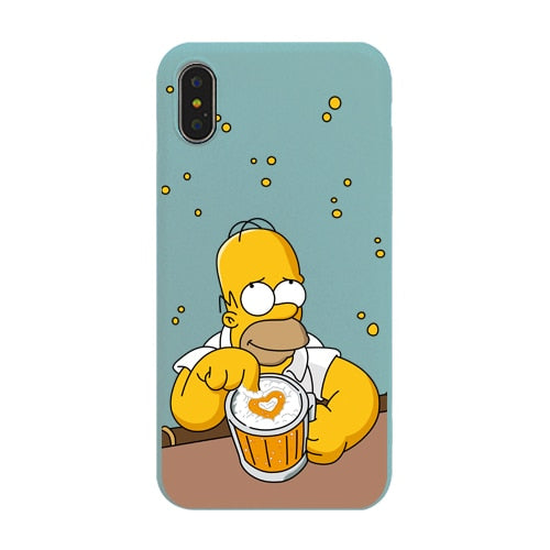 Cute Cartoon Simpson Phone Cases For iPhone 6 S 6S 7 8 Plus Case Silicone Soft TPU Cover Case For iPhone X XS MAX XR 11 Pro MAX