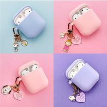 Load image into Gallery viewer, Cute Cartoon Dog Silicone Case for Apple Airpods Cover Case Accessories Bluetooth Earphone Headphones Protective Decor Key Ring