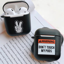 Load image into Gallery viewer, Warning English Words Soft TPU Case for Apple Airpods 1/2 Cover Cartoon No Face Man Bluetooth Wireless Earphone Headphone Box