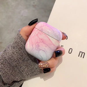 Marble Earphone Case For Airpods 2 Case Luxury Hard Headphone Case For Earpods Cover Accessories for Apple Air pods Charging Box