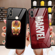 Load image into Gallery viewer, Marvel Venom Tempered glass iron Man TPU Cover For Xiaomi Mi 9 A2 6X Max3 5S 6 8 Lite SE For Redmi 7 5 Plus Note 5 6 pro S2 Case