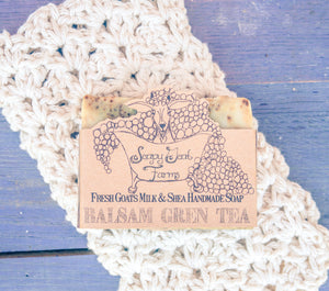 Artisan Goat's Milk Soap- Balsam Green Tea - 3 Pack - shopsatang.com