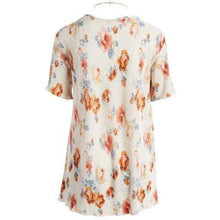 Load image into Gallery viewer, Urban Diction 2 Pack White & Pink Floral Short-Sleeve Top & Necklace Set-Women