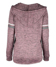 Load image into Gallery viewer, Urban Diction Mauve Hacci V-Neck Hoodie