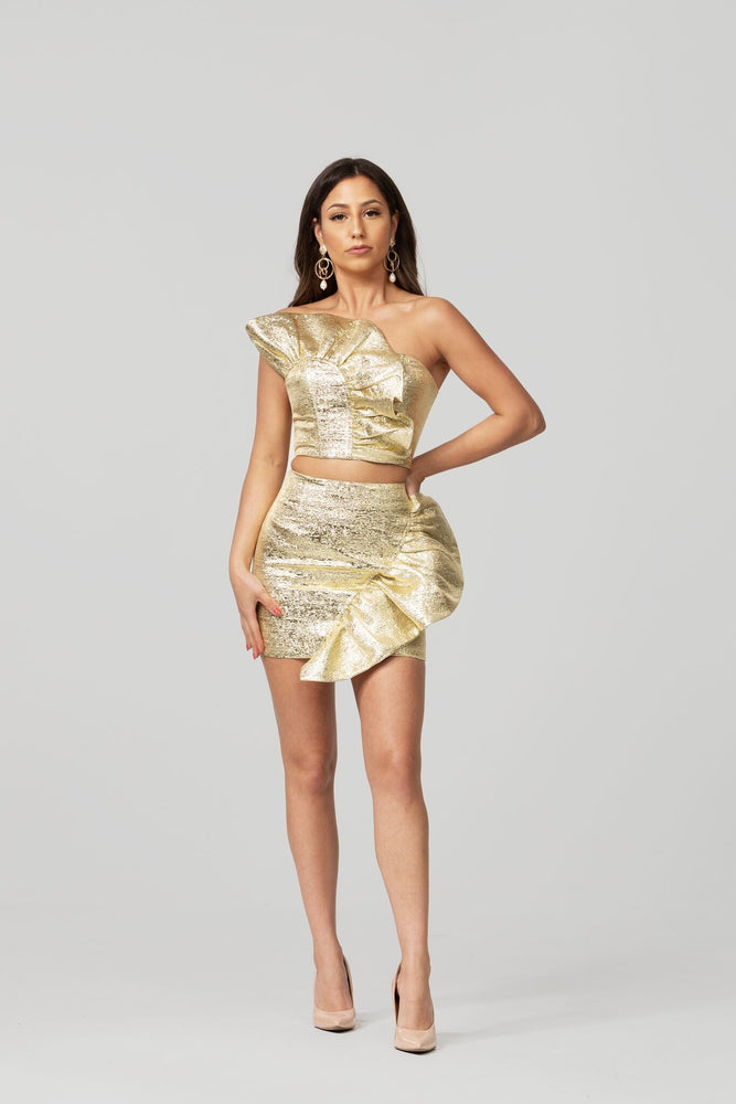 Dripping in Gold Skirt