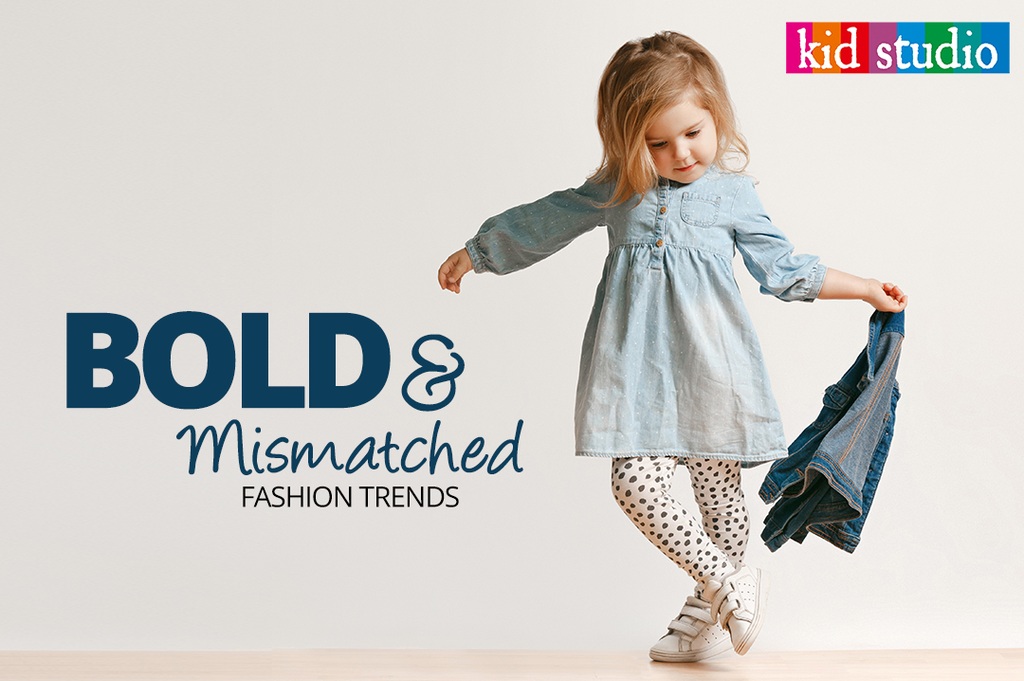 Bold and mismatched kids fashion trends