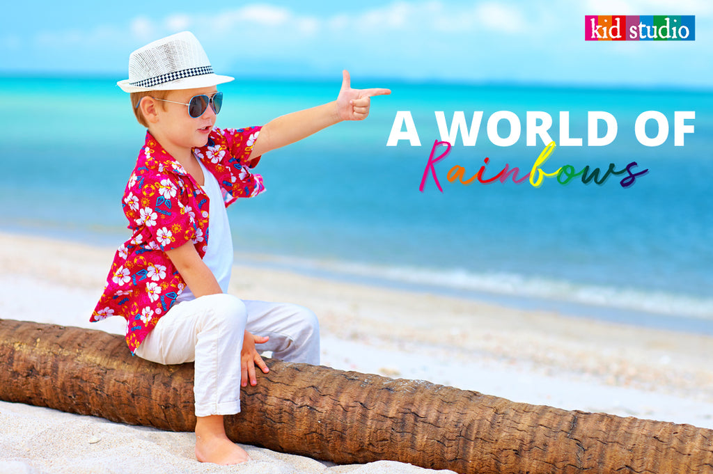 Boys colorful clothing – A world of rainbows