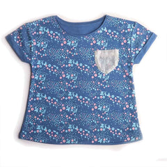 girls blue tshirt