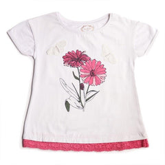 white tshirt for baby girl