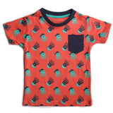 Boys Red Octopus Print T-shirt