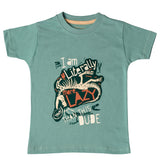 Boys Blue Dino Print T-shirt
