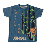 Boys Blue Tiger Print T-shirt