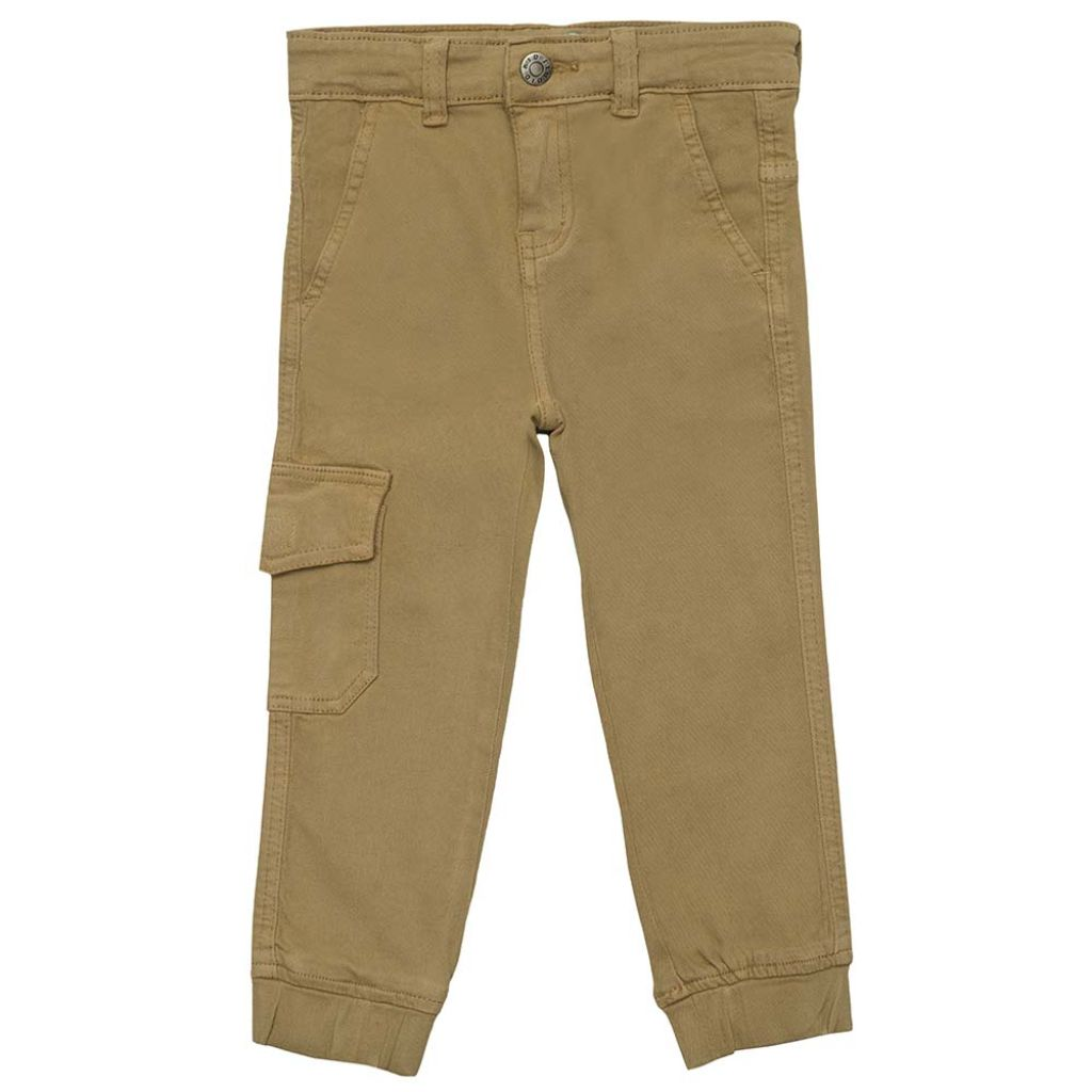 Boys Mustard Cargo Stretch Joggers
