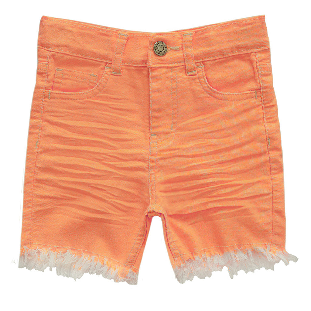 Kids Neon Shorts with Stretch