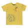 Boy's Half Sleeve Tshirt, Graphic Print, Yellow