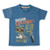 Boys Blue Dino Kit Print T-shirt