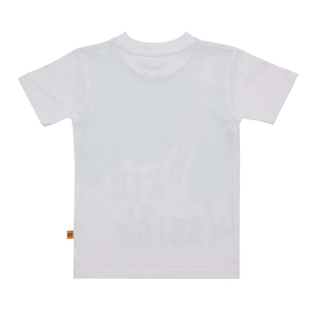 Boys White Space Graphic Print T-shirt
