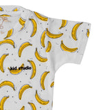 Boys White Banana Print T-shirt