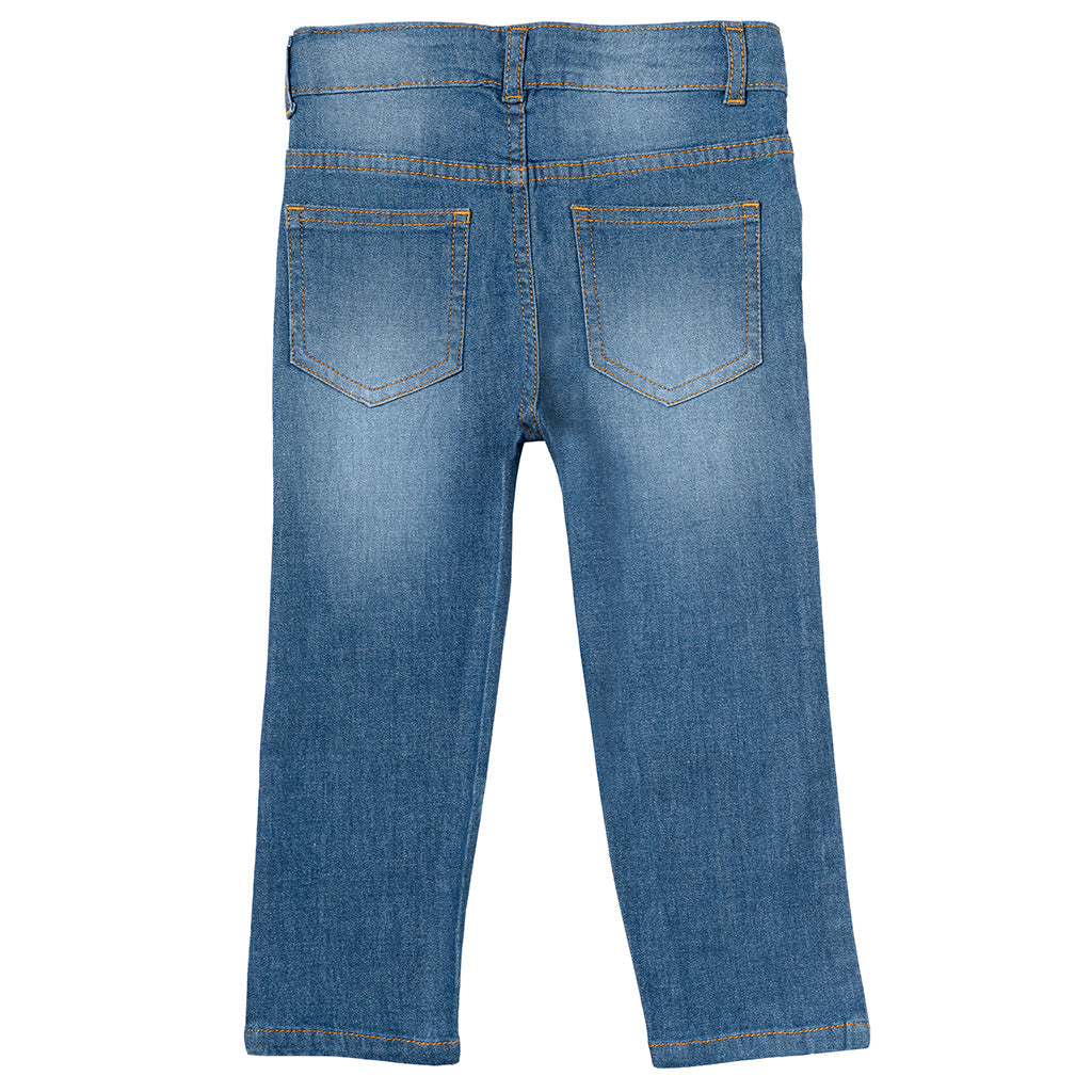 Boys Light Blue Straight Fit Jeans