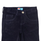 Boys Navy Blue Slim Fit Corduroy Trouser