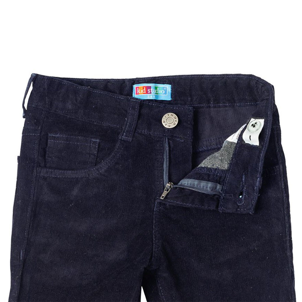 Boys Corduroy Trouser Pant, Navy Blue