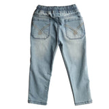 Boys Denim Jeans Elasticated Waistband Pant, Light Blue