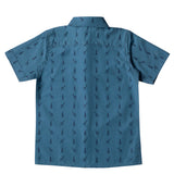 Boy's Half Sleeve Printed Shirt, Navy Blue