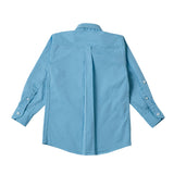Boy's Long Sleeve Plain Shirt, Light Blue