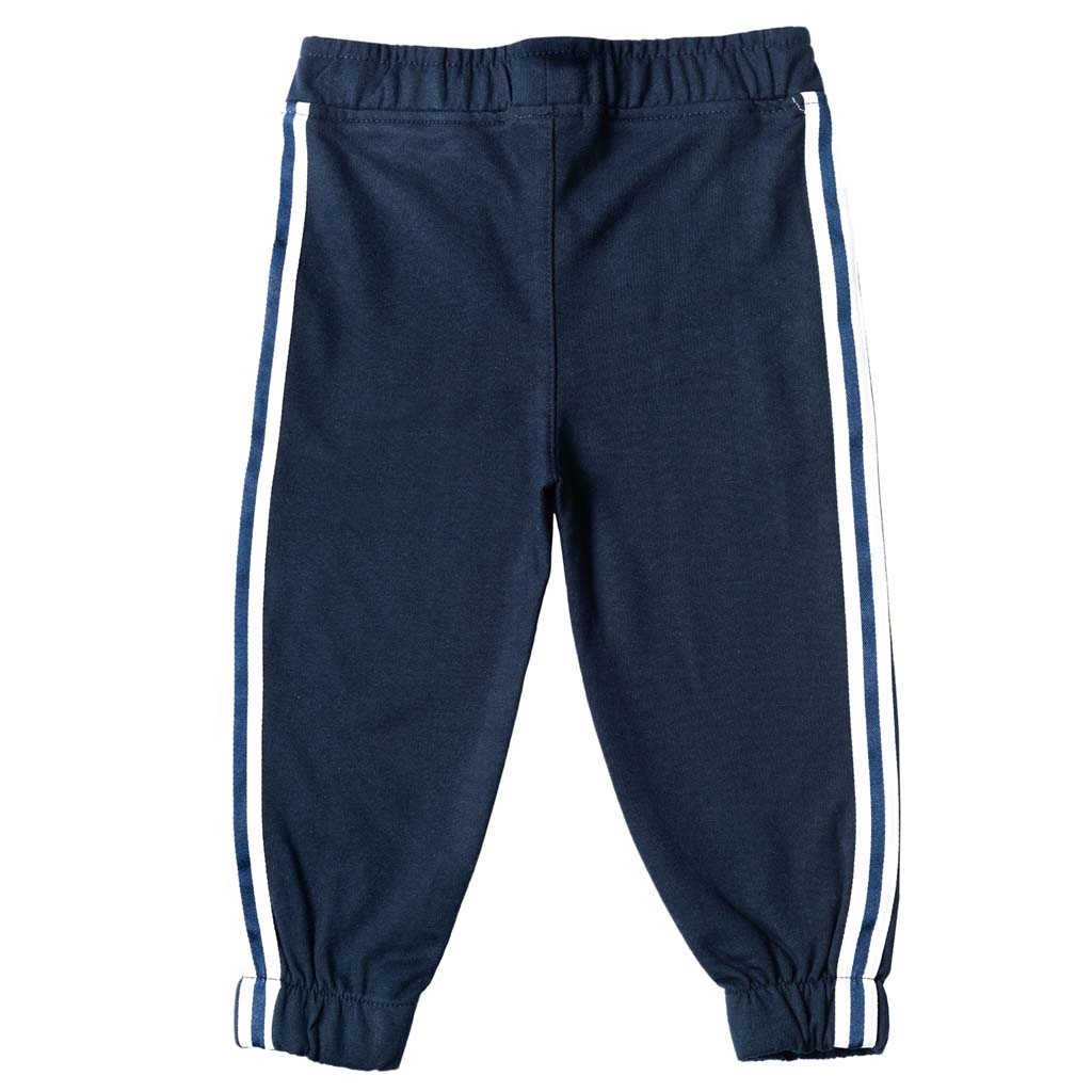 Boy's French Terry Joggers, Navy Blue - www.kidstudio.in