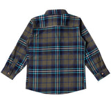 Boys Green & Blue Flannel Shirt