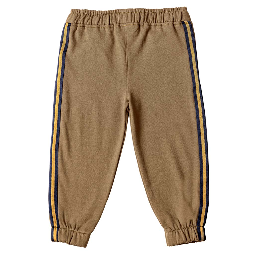 Boy's French Terry Joggers, Mustard Yellow