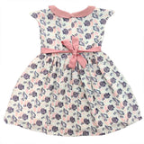Girls White Sea Shells Print Dress