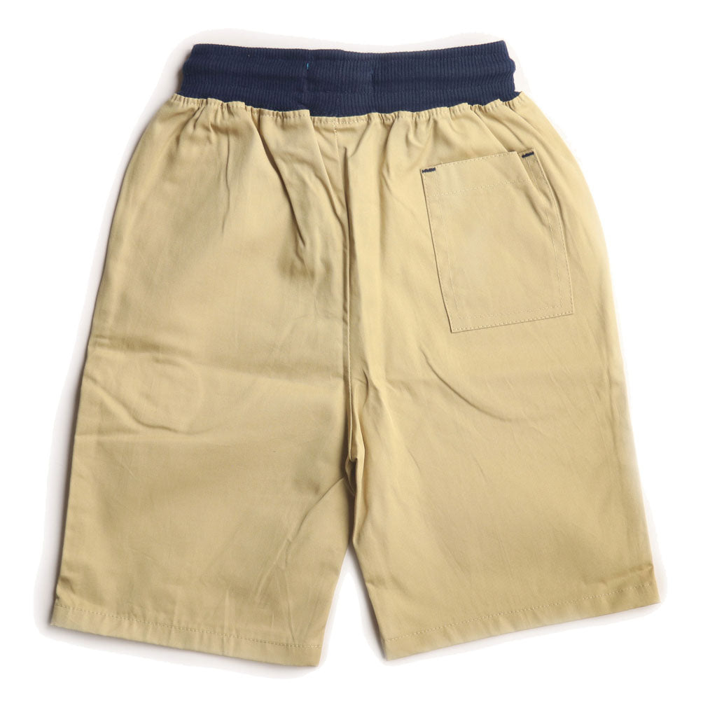 Boys Cotton Short/Bermuda, Beige - www.kidstudio.in