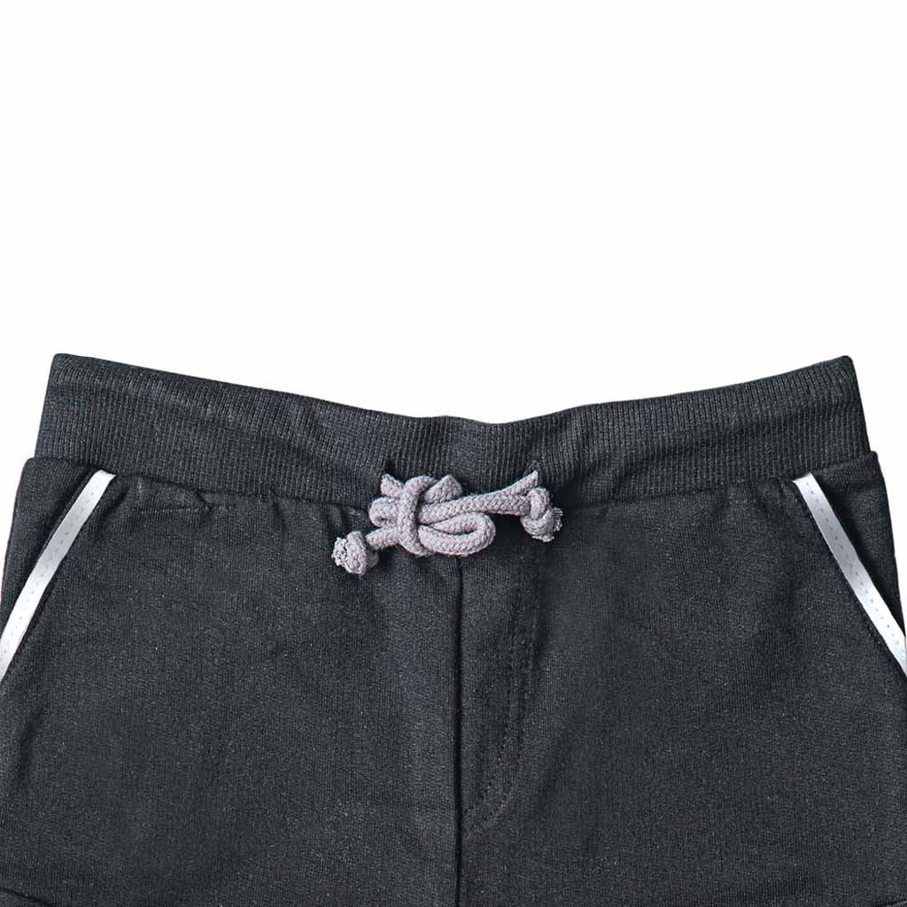 Boy's French Terry Joggers, Black