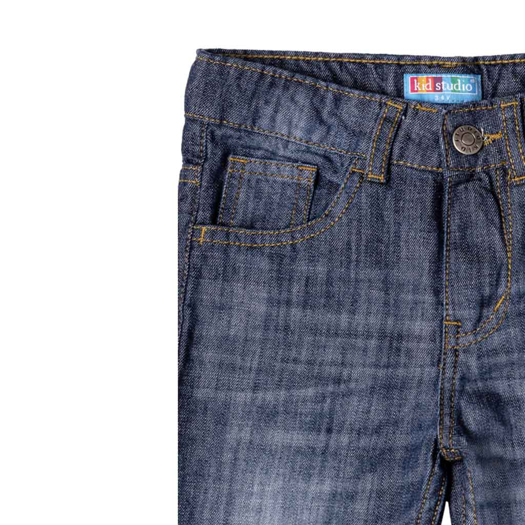 Boys Blue Straight Fit Jeans