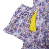 Girls Lavender Floral Print Dress