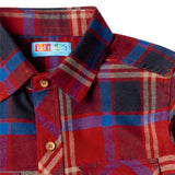 Boy's Long Sleeve Check Shirt, Red - www.kidstudio.in