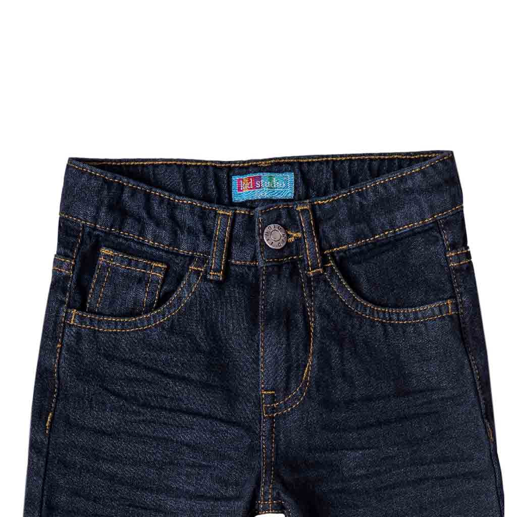 Boys Dark Blue Straight Fit Jeans