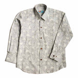 Boys Grey Polar Bear Print Shirt