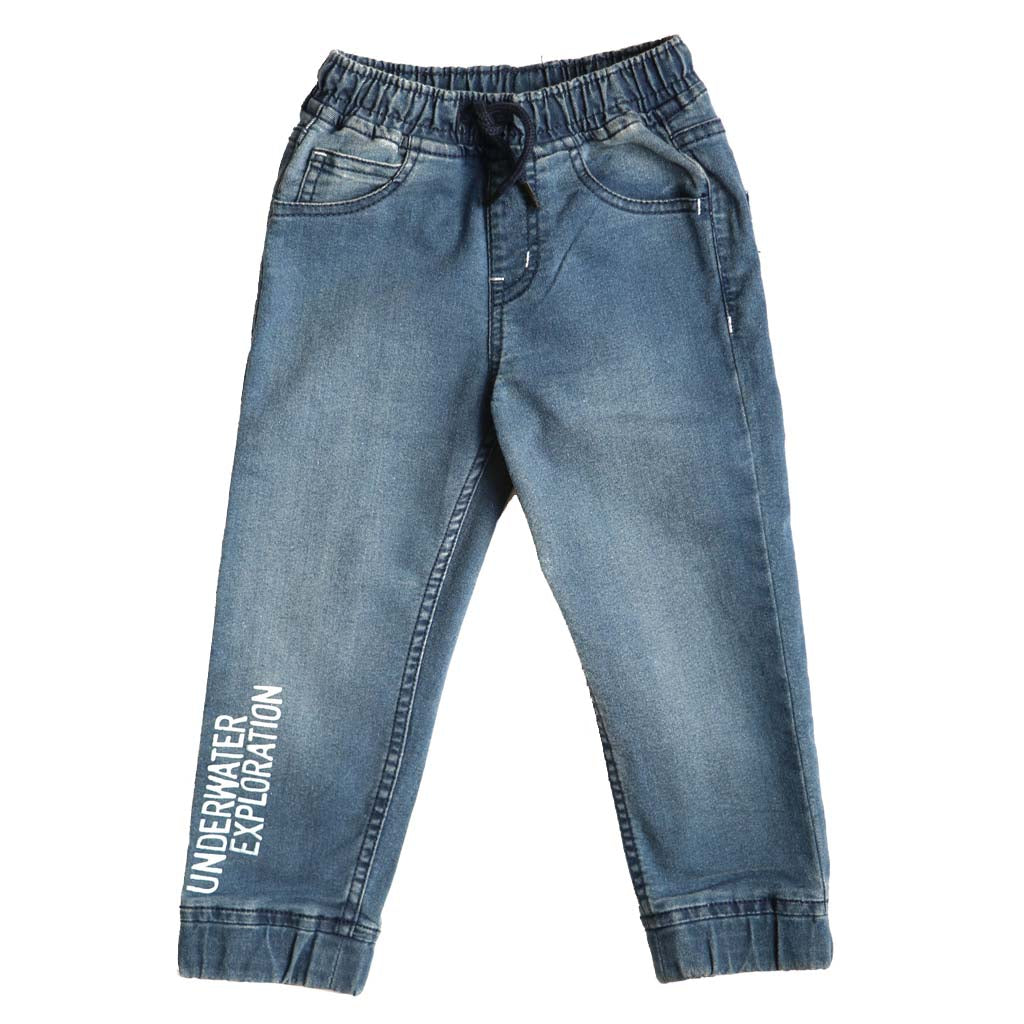 Kids Denim Joggers with Stretch