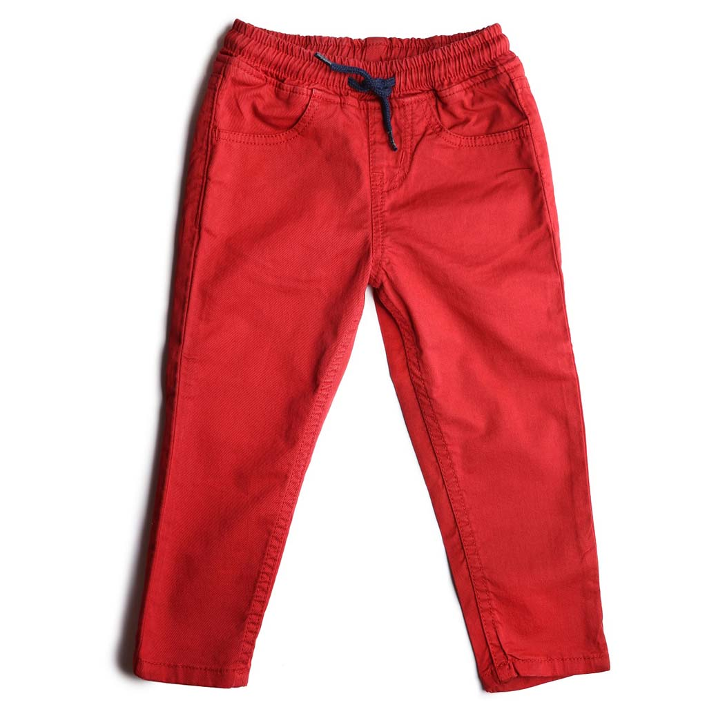 Boys Red Pull On Trouser