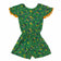 Girl's Short Sleeve Printed Jumpsuit/Romper, Green
