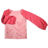 Girl's Long Sleeves Top, Floral Print, Pink - www.kidstudio.in