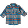 Boys Grey & Blue Check Shirt
