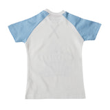 Boys White Shark Print Sequin T-shirt