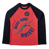 Boys Long Sleeve Graphic T-shirt, Red
