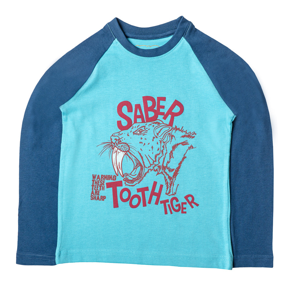 Boys Blue Tiger Print Tshirt