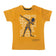Boy's Half Sleeve Tshirt, Graphic Print, Mustard Yellow