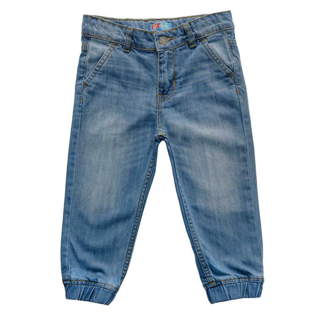 Boys Light Blue Denim Comfort fit Joggers