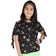 Girls Black Floral Cotton Top